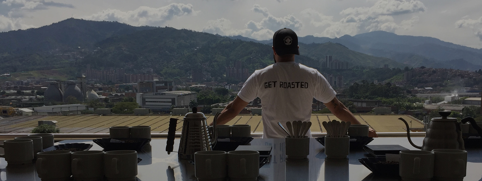 Views from Campesino's Medellin coffee lab.